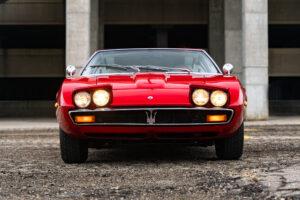 1971 Maserati Ghibli SS 4.9 Coupe by Ghia headlights