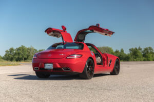 2012 Mercedes-Benz SLS AMG Coupe with gullwing doors open