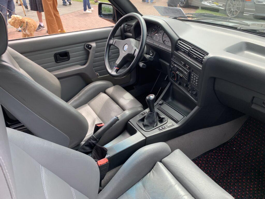E30 BMW M3 interior